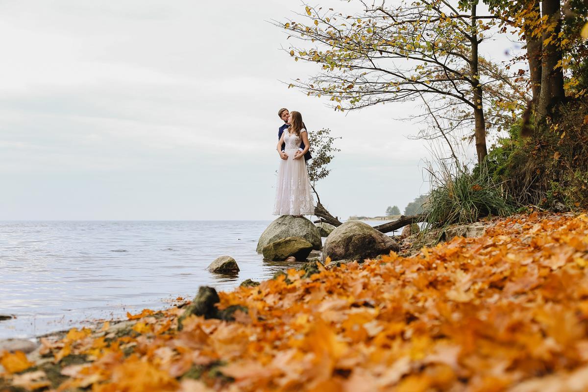 Sesja ślubna jesienią Małgosia & Bartek