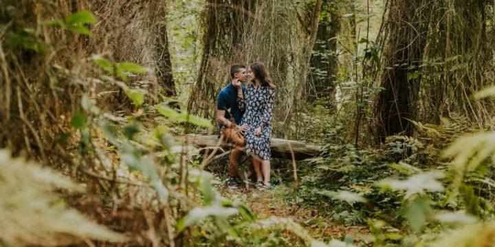 Sesja rocznicowa w lesie